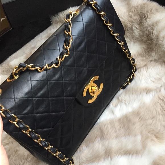 da3f3c4f0c4d76 CHANEL Handbags - Vintage Chanel XL Jumbo Flap Bag Lambskin